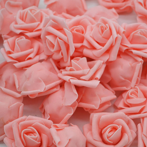 Multicolor Artificial Foam Rose Flower Head Bouquet for Party Decoration