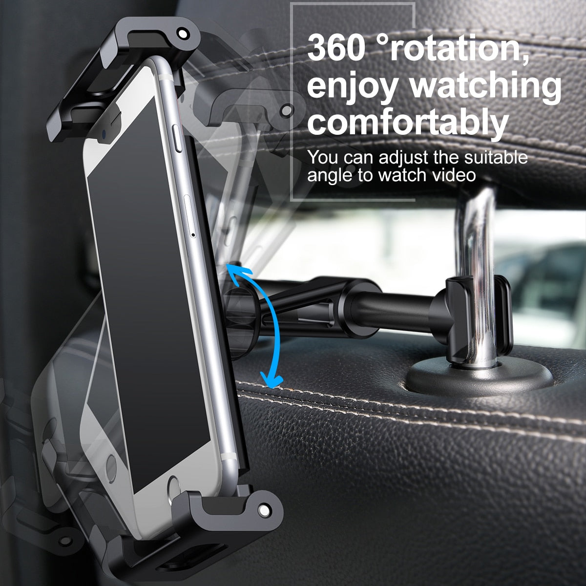 HOT Selling Car Back Seat Headrest Holder for 4-12.9 inch iPad & Tablet