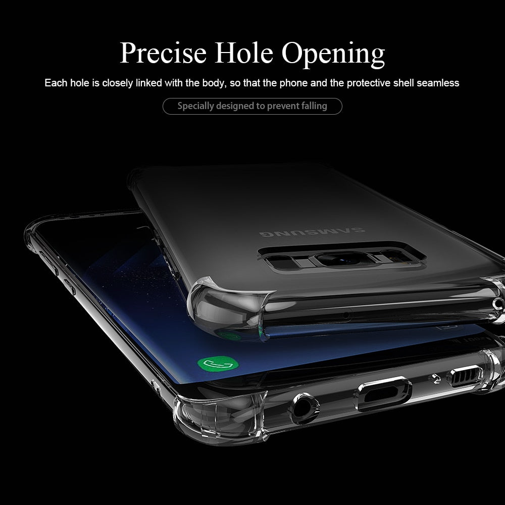 LATEST Shockproof Soft Silicone Phone Case for Samsung Galaxy S10 Plus S10e S8 S9 Plus, Samsung Note 9 8 S7