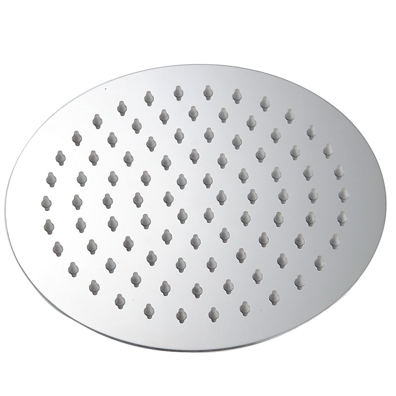 Round & Square Shape Stainless Steel Rainfall Shower Heads