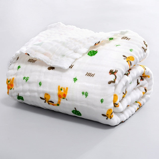 ULTRA SOFT 100% Cotton Muslin Swaddle Baby Blankets