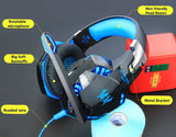 HOT SELLING New Hybrid Technology Stereo Gaming LED Headphones with Mic for PC Gamer