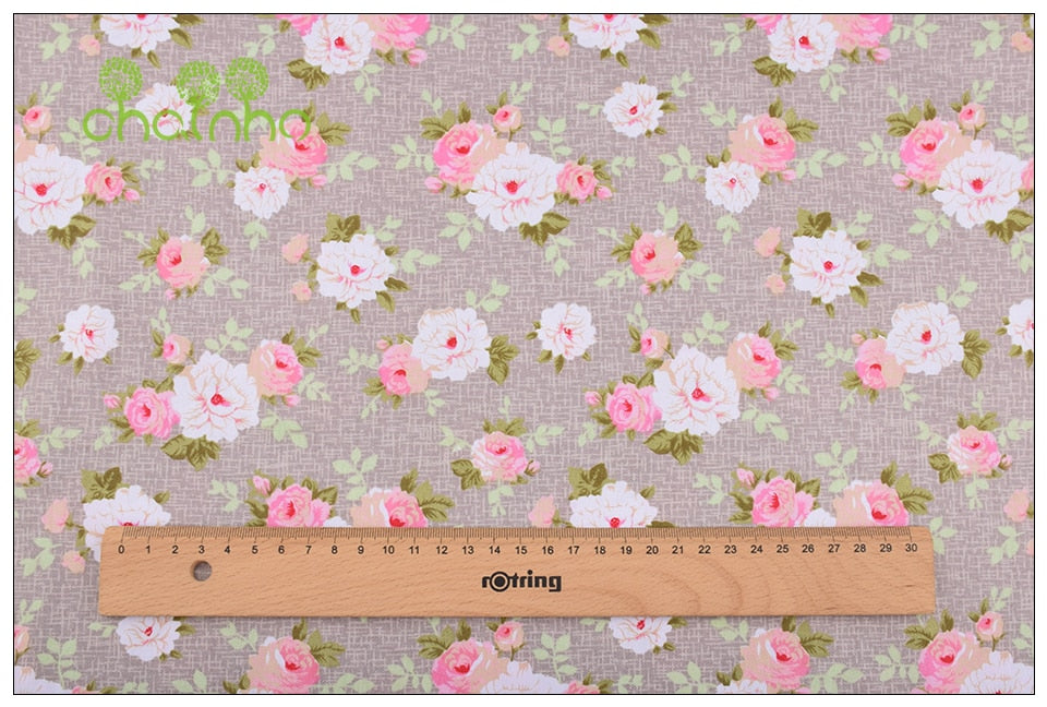 FAST SELLING 8 PCs/lot Floral Series Printed Twill Cotton Fabric for DIY Sewing