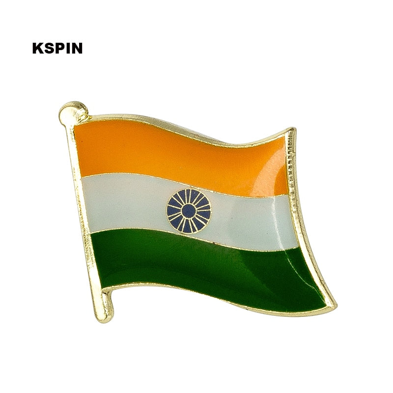 Metal India Flag Lapel Pin Badges for Clothes