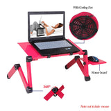 Laptop Stand With USB Cooling Fan & Mouse Board