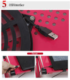 Trendy Adjustable Folding Aluminum Laptop Stand With USB Cooling Fan & Mouse Board