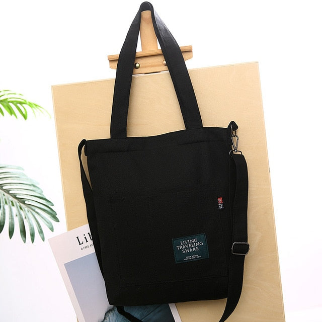 NEW STYLE Casual Foldable Canvas Ladies Shoulder Tote Bag