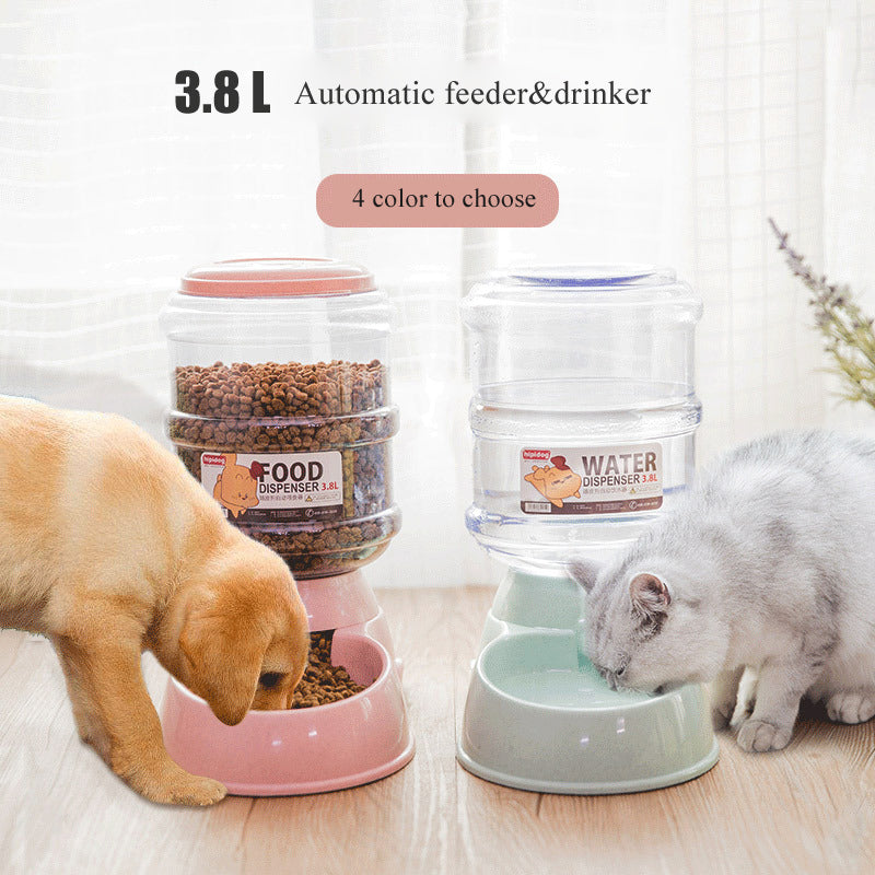 Water Dispenser Automatic Feeders Plastic Bowl for Cats and Dogs