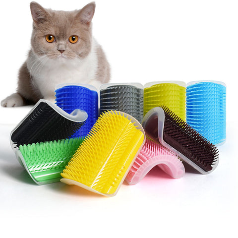 Self Grooming Hair Removal Massage Device With Catnip for Pet Cats