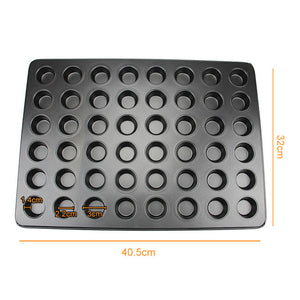 Mini Muffin Cake Baking Pan 12/24/48 Holes Cupcake Mould Non Stick Carbon Steel Oven Trays