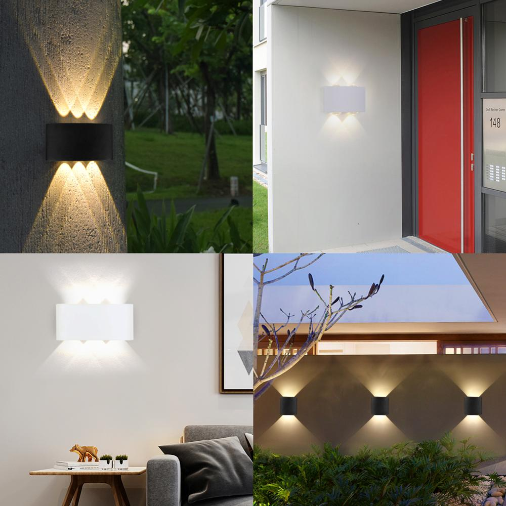 Modern Waterproof Up Down Direction LED Wall Lamp for Living Room