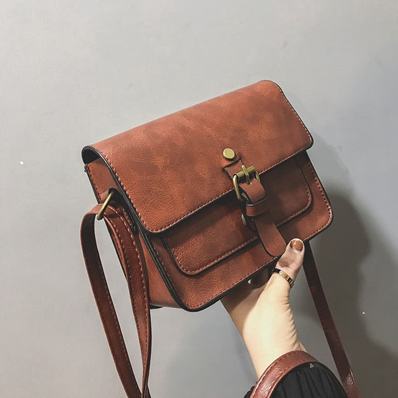 Elegant Flap Fashion Casual Leather Shoulder Bags for Ladies