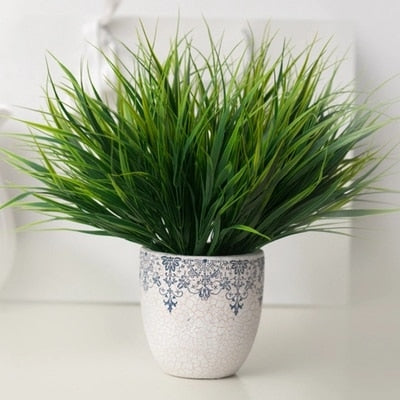 Artificial Green Grass Plants for Living Room Decor