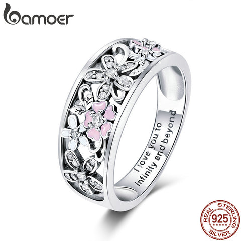 AMAZING 925 Sterling Silver Daisy Flower & Infinity Love Pave Finger Rings