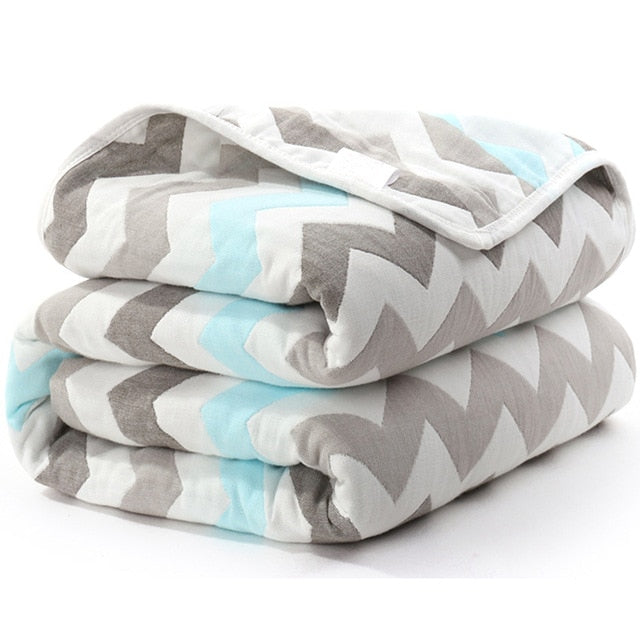 SOFT and WARM 6 Layer Thick Cotton Blankets for Newborn