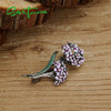 Authentic 925 Sterling Silver Babysbreath Flower Ball Brooch Fashion Jewelry for Women
