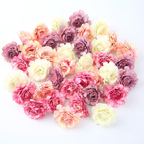 Rose Head Artificial Flower for Party Decoration