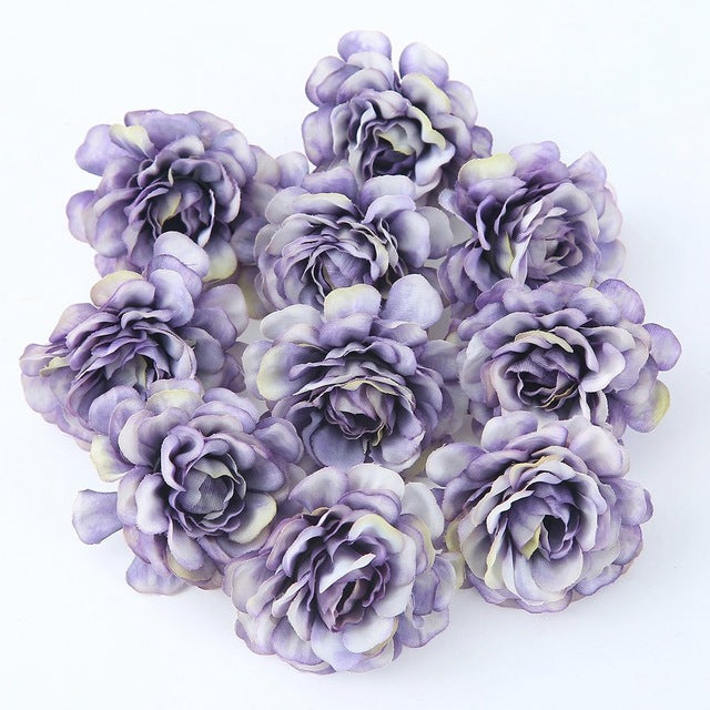 10pcs/lot 5CM Silk Spring Rose Head Artificial Flower for Party Decoration