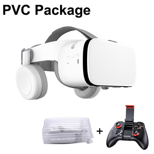 Bluetooth Wireless  Virtual Reality 3D Glasses Immersive VR Headset for Smartphones with Controller