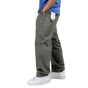 Big & Tall Men's Outside Long Elastic Waist Trousers