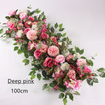 Artificial Deep Pink Flower String for Wedding
