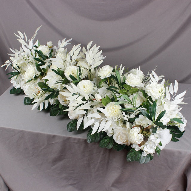New 50/100 cm DIY Silk Artificial Flowers for Wedding Wall Arrangement