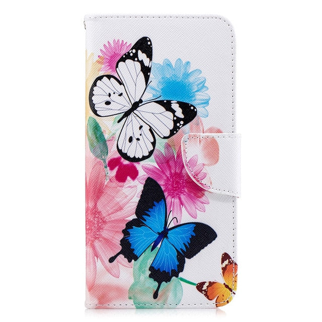 BEAUTIFUL Painted Flip Leather Wallet Phone Case with Card Slot Holder for Coque Xiaomi Redmi 6 Pro
