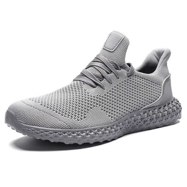 Lace Up Low Top Breathable Running Shoes for Men