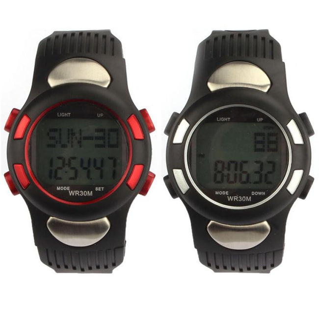 1pc High Quality Fitness 3D Pedometer Calories Counter Sport Watch Pulse Heart Rate Monitor Gift# - Pedometer Watches