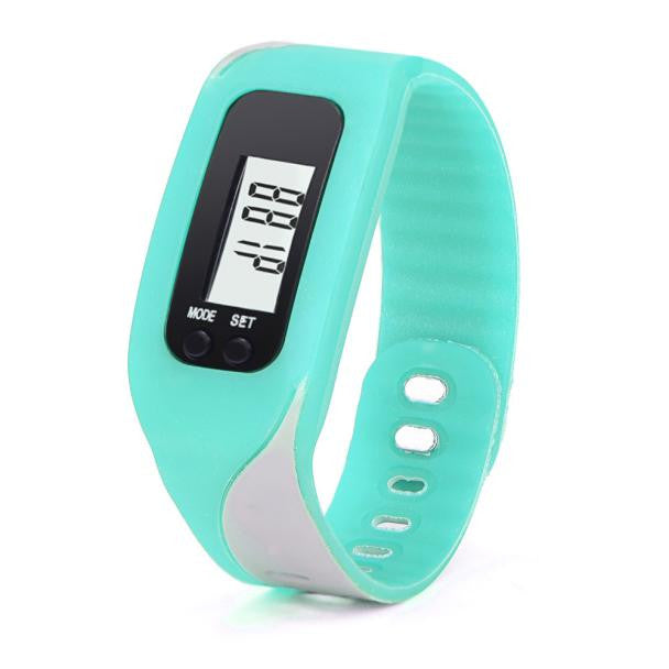 Digital LCD Pedometer Run Step Walking Distance Calorie Counter Watch Bracelet - Pedometer Watches