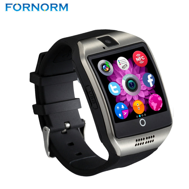 FORNORM Bluetooth Smart Watch Q18 Pedometer for Android Phone Support SIM SD Card Wristwatch Sport Watches Clock for Huawei - Pedometer Watches