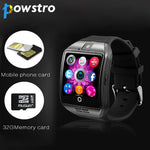 Powstro Bluetooth Smart Watch Q18 Pedometer for Android Phone Support SIM SD Card Wristwatch Sport Watches Clock for Smartphone