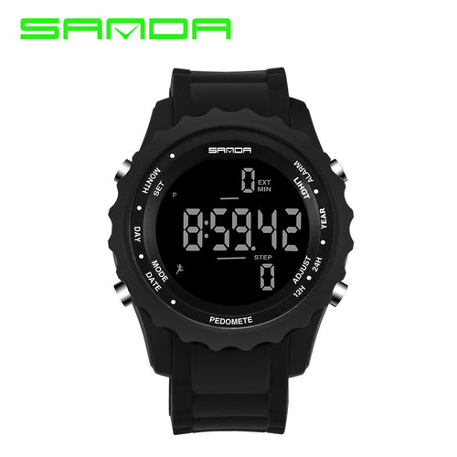 Unisex Sports Watches Quartz Clock Military Waterproof Outdoor Pedometer