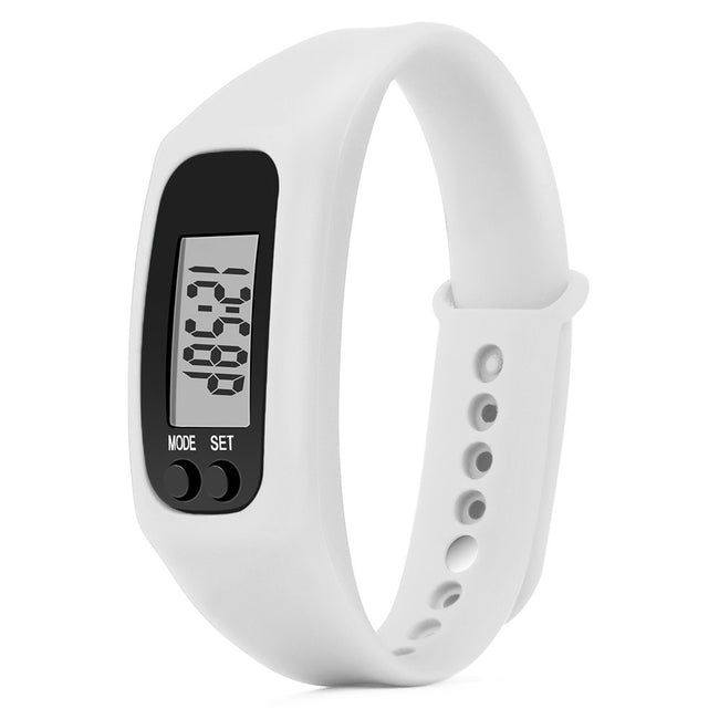 Run Step Watch Bracelet Pedometer Calorie Counter Digital LCD Walking Distance - Pedometer Watches