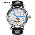 SINOBI Skeleton Watch Luxury Sapphire Crystal Machinery Men's Watches - Pedometer Watches
