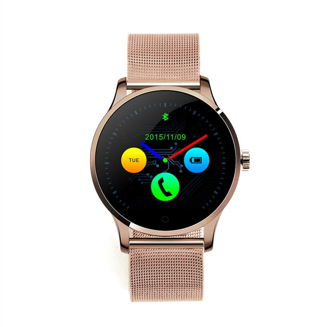 K88H Smart Watch Round IPS Touch Screen Bluetooth Wristwatch Support Heart Rate Monitor Pedometer - Pedometer Watches