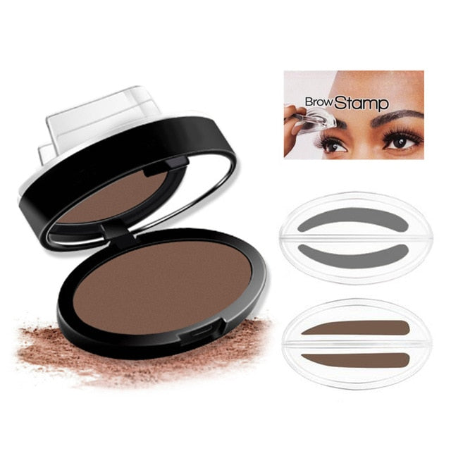 Eyebrow Stamp Seal Palette Set Two Color Shadow Powder Waterproof Eye Brow Stamp Powder Natural Shape Eyebrows Powder Palette Beauty Essentials Eyebrow Enhancers