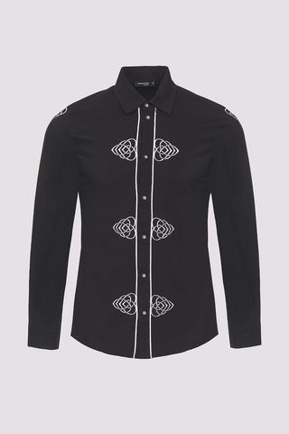 men's moroccan embroidered shirt