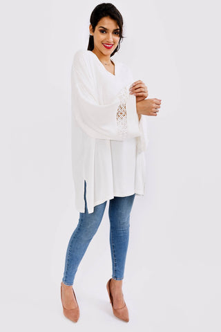 white longline loose fit top