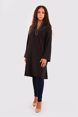 Chourouch black tunic top