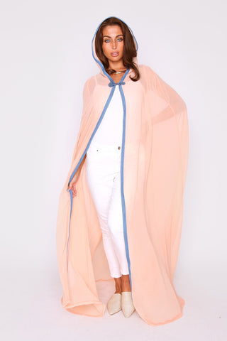 pink lightweight duster jacket