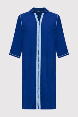 Djellaba Jad Boy's Hooded Long Sleeve Full-Length Robe Thobe in Royal Blue (2-12yrs)