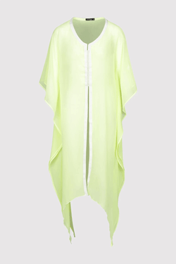Kaftan Tressy Long Sleeve Sheer Dress Cover-Up in Yellow