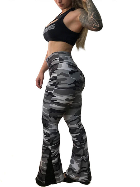 High Waist Camo Flare Legging