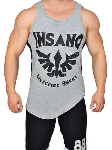 Long Lenght Curved Hem Tank Dark Eagle