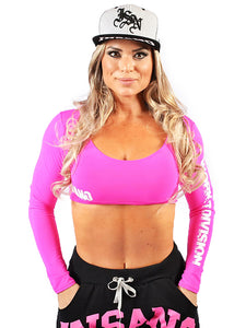 Long Sleeve Sports Bra Workout Division