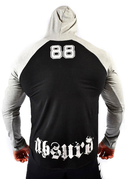 Hooded Raglan Long Sleeve Shirt 88