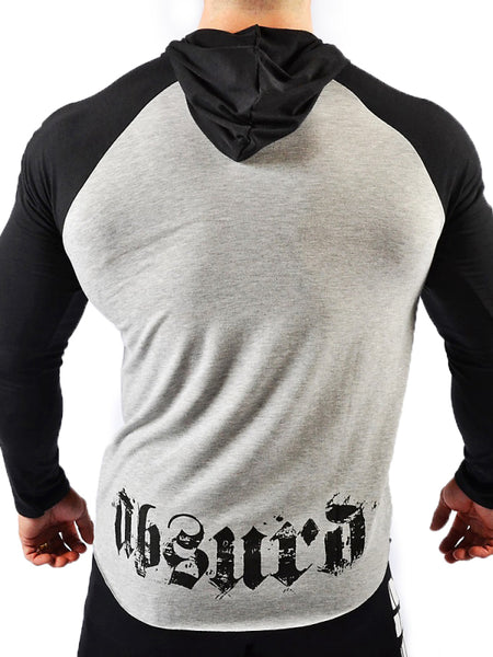 Hooded Raglan Long Sleeve Shirt Gothic