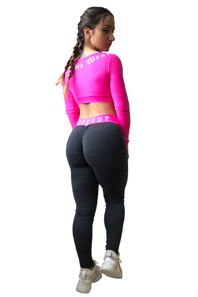 Two Tone Scrunch Bum Tights