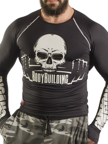 Compression Long Sleeve Shirt Skull